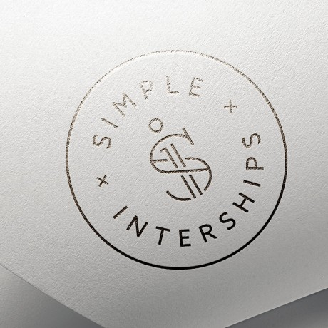 Simple Interships Logo Stamp