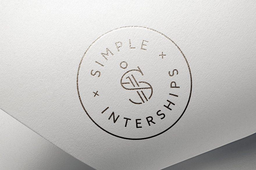 Simple Interships Logo Stamp